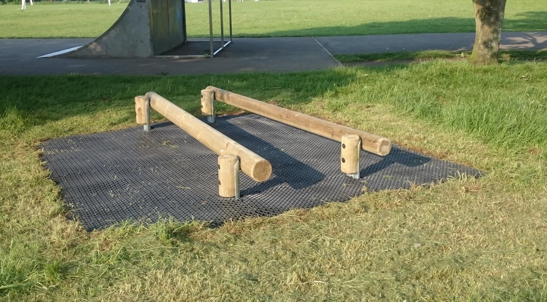 Outdoor gym fitness trail u rayne village hall